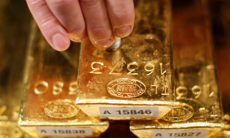 Gold eases on rising risk appetite as new virus cases fall
