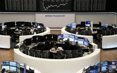 European shares inch higher but set for worst quarter since 2002