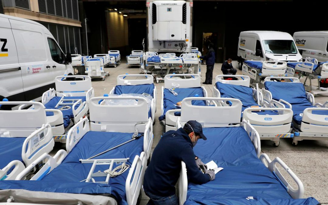 U.S. death toll spirals amid rush to build field hospitals, find supplies